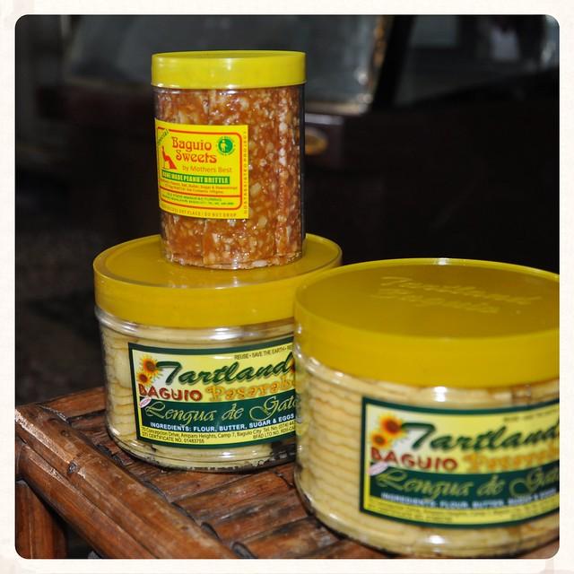 Tartland Lengua de Gato and Baguio Sweets Peanut Brittle