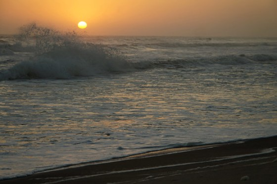 Sunset at Hentiesbaai