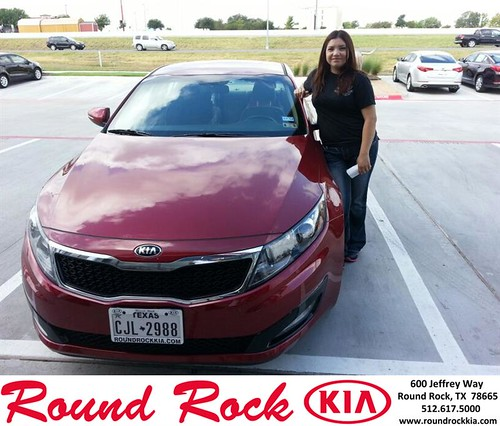 Thank you to Christina Corona on your new 2013 Kia Optima from Michael Glass and everyone at Round Rock Kia! by RoundRockKia