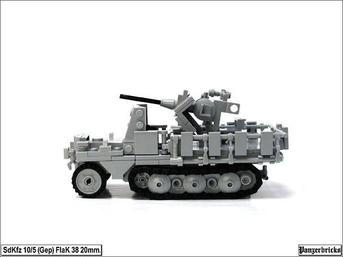 SdKfz 10/5 (Gep) FlaK 38 20mm. de Panzerbricks