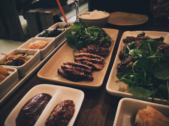 Pork belly en bulgogi bij Koreaans restaurant Yokiyo