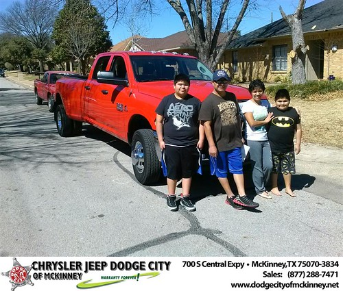Thank you to Tino Campos on your new truck  from David Walls and everyone at Dodge City of McKinney! #NewCar by Dodge City McKinney Texas