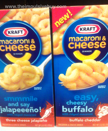 Three Cheese Jalapeno and Buffalo Cheddar Kraft Macaroni & Cheese