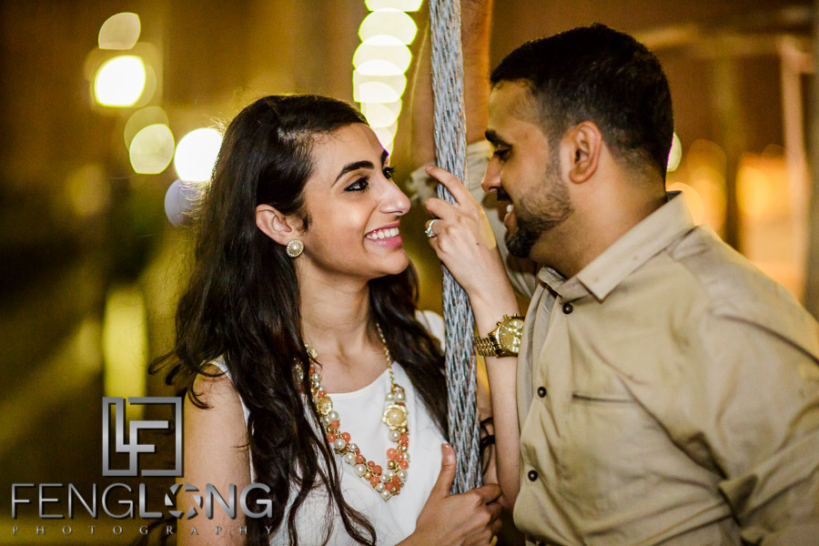 Zeenat & Ayaz's Destination Engagement | Central Park, Brooklyn Bridge | New York City Destination Indian Wedding
