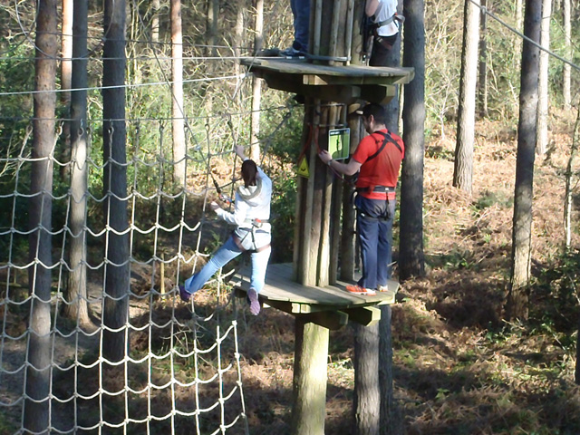 Go Ape cargo net climbing 640