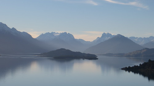 distant peaks and isles