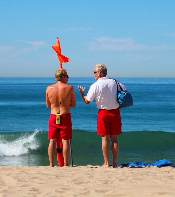 Lifeguards, Manhattan Beach, October 2013