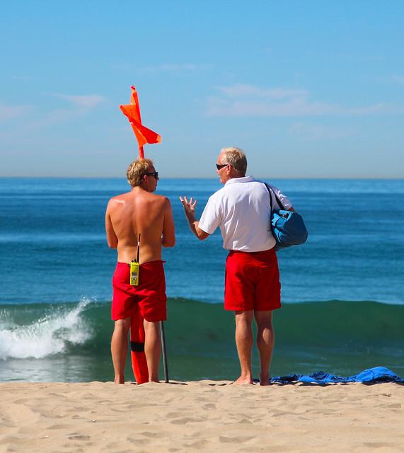 Lifeguards, Manhattan Beach, October 2013