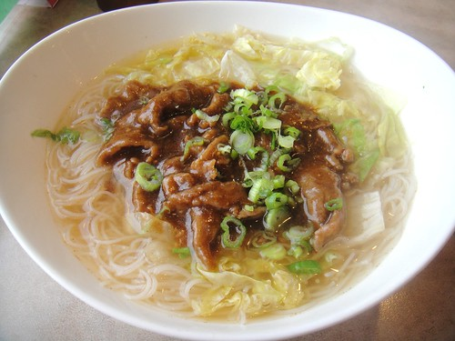 Beef with Satay Sauce with Vermicelli in Soup