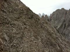 Aufstieg Haunold, Einstieg in den Fels