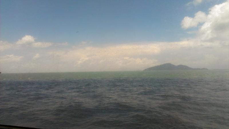 On the sea