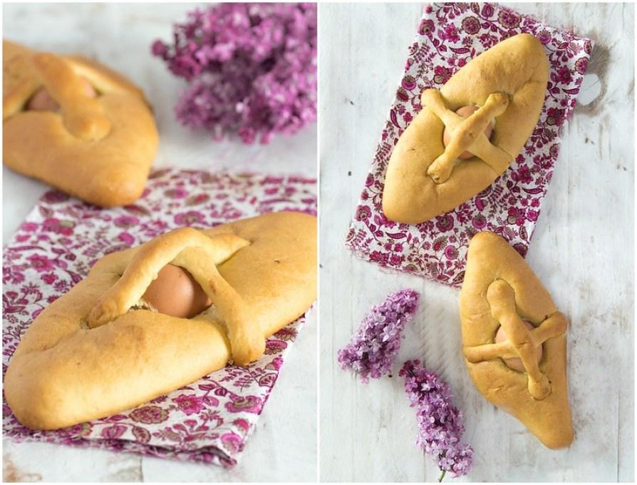 Hornazos de Semana Santa con huevo de codorniz