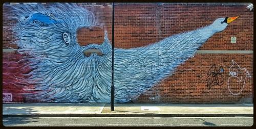 Graffiti (Edwin), Old Ford, East London, England.