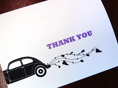 VW Bug Thank You card