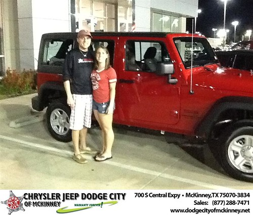 Thank you to Nathan Blacketer on your new 2013 Jeep Wrangler Unlimited from Joe Ferguson  and everyone at Dodge City of McKinney! by Dodge City McKinney Texas
