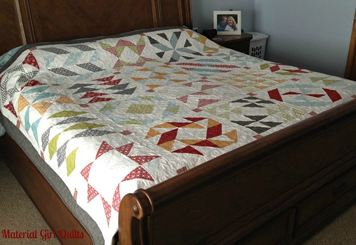 Layer Cake Sampler {first quilt finish of 2014!} – Material Girl ... : quilt on bed - Adamdwight.com
