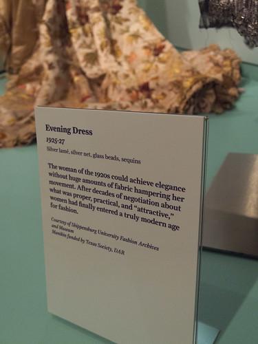 DAR Museum 1925-1927 Evening Dress Tag
