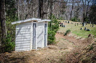 Outhouses and Cemetery