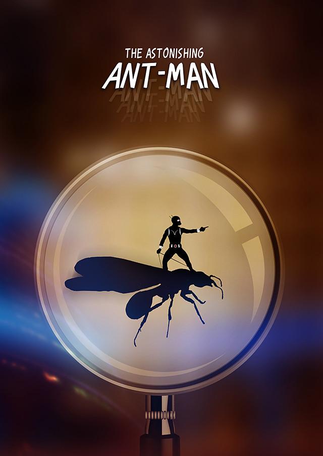 Ant-Man Silhouette design