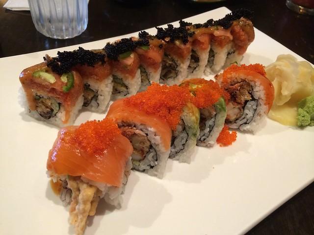 Red dragon & Reward rolls - Barracuda Sushi