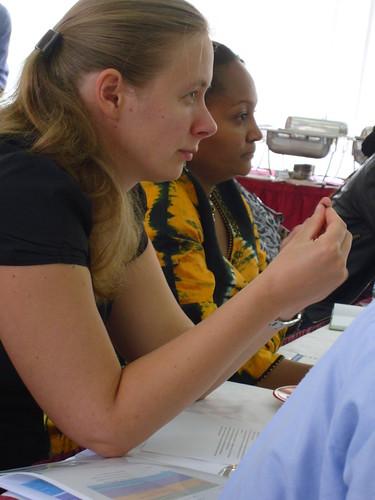 ILRI aflatoxin research Johanna Lindahl, and IITA aflatoxin researcher Charity Mutegi