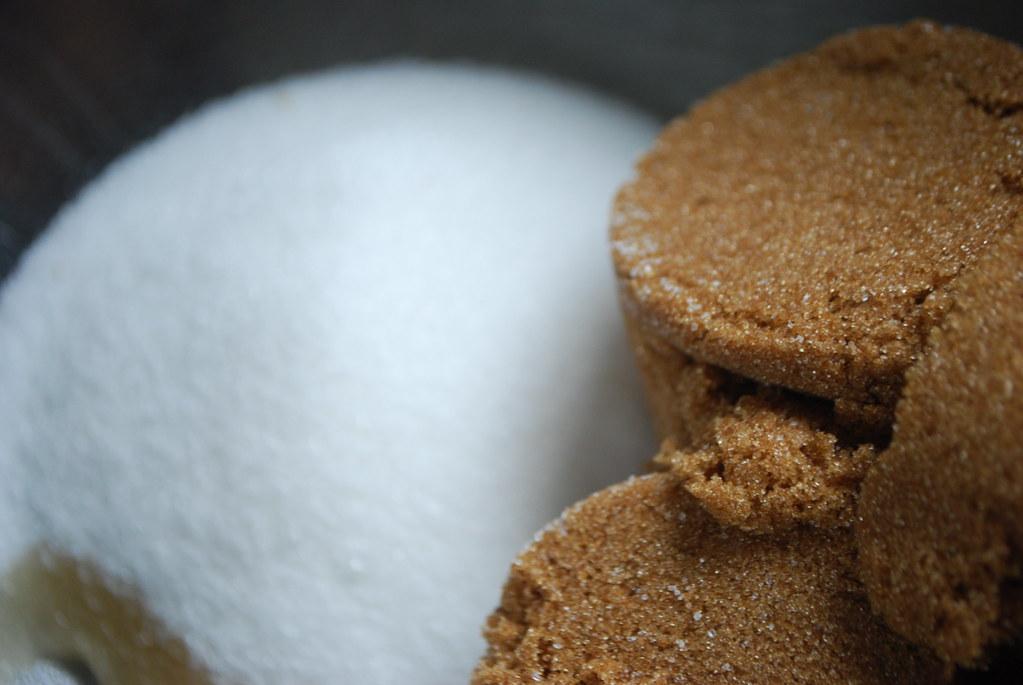 brown sugar, white sugar, vanilla.