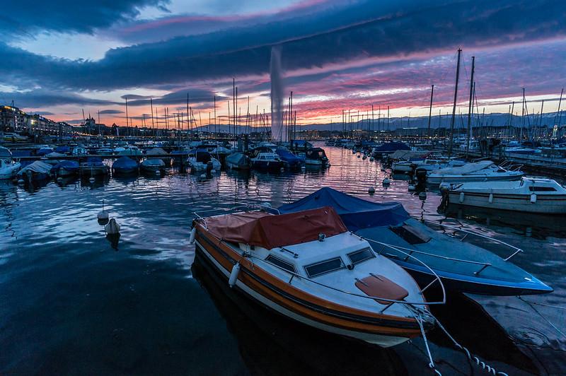Sunset, Lake Geneva, Switzerland