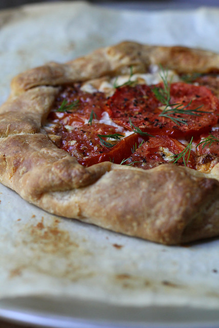 cheese and tomato galette