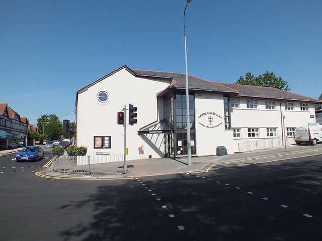 Skating Jesus graffiti in Rhiwbina, Cardiff