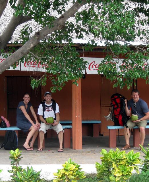 Monterrico, Guatemala bus stop.