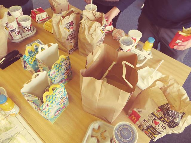 McDonalds lunch