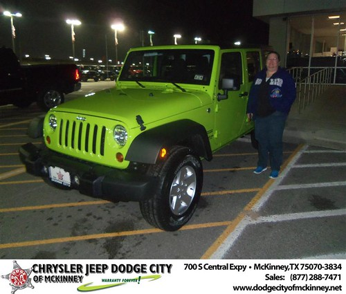 Happy Anniversary to Amy Mackey on your 2013 #Jeep #Wrangler from David Walls  and everyone at Dodge City of McKinney! #Anniversary by Dodge City McKinney Texas