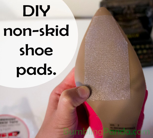 How to make your own non skid shoe pads