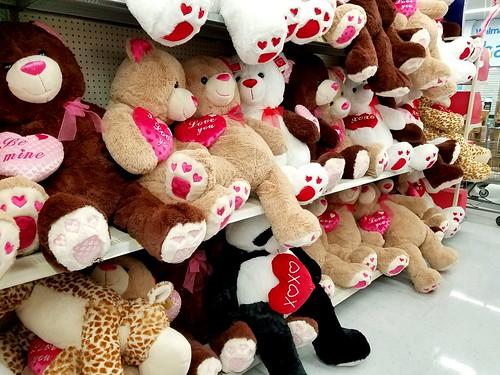 Valentine's day Walmart aisle.