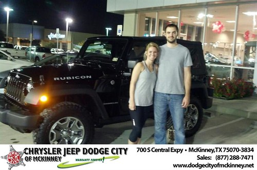 Thank you to Joseph  Davis on your new 2013 #Jeep #Wrangler from Bobby Crosby and everyone at Dodge City of McKinney! #NewCar by Dodge City McKinney Texas