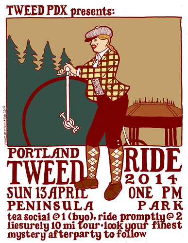 Portland Tweed Ride 2014 flyer by urbanadventureleaguepdx