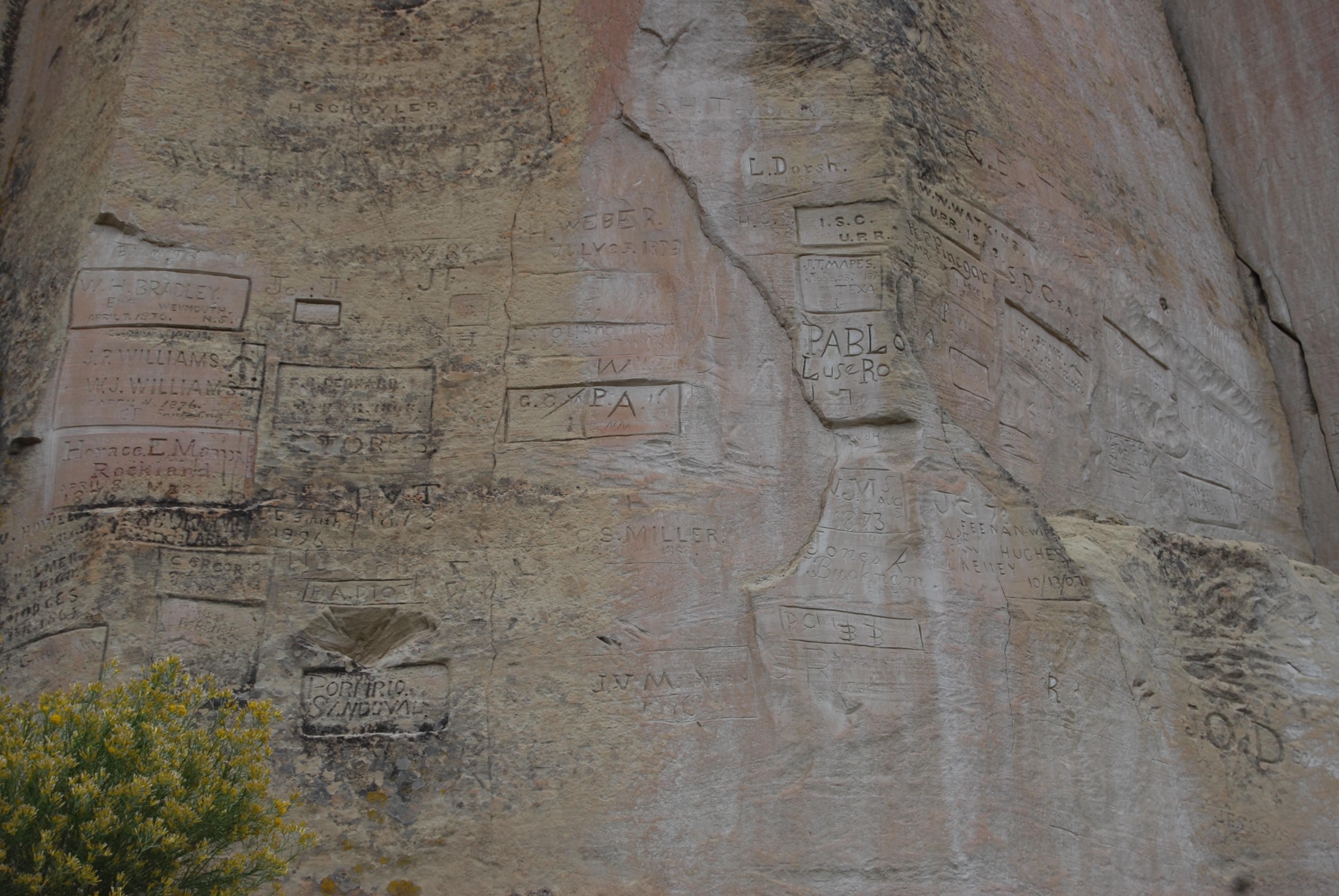 El Morro National Monument inscriptions