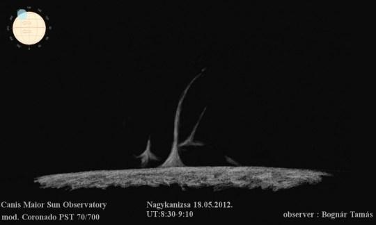 Protuberancia – 2012.09.25. – Bognár Tamás – CMA Observatory