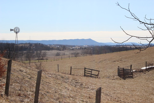 Massanutten Mountain from Greenmount and Sky Road intersection, Rockingham County, Virginia by MennoniteArchivesofVirginia
