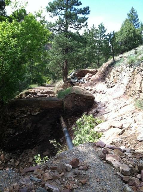 Eldorado Canyon Destroyed Driveway