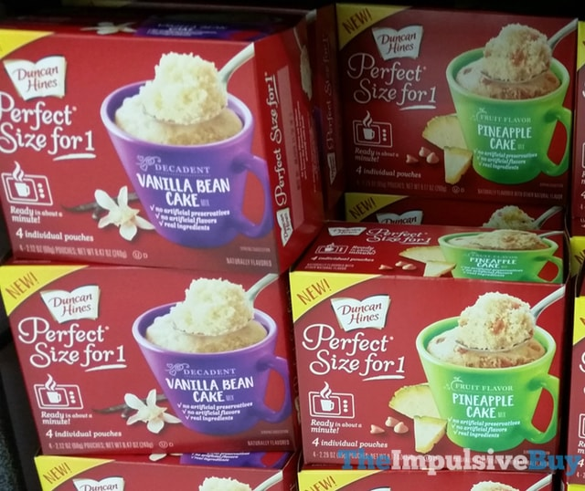Duncan Hines Perfect Size for 1 Mixes (Vanilla Bean Cake and Pineapple Cake)