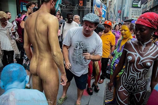naturist 0008 body paint art, Times Square, New York, NY, USA