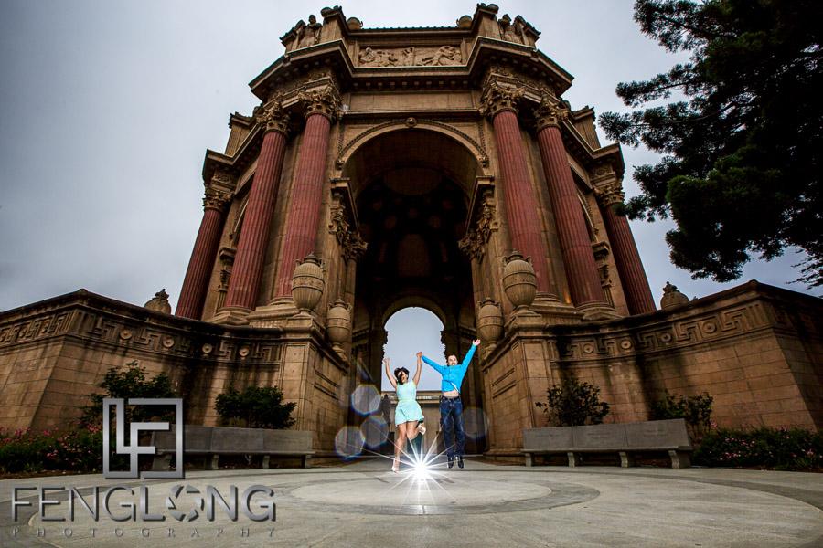 Palace of Fine Arts Destination San Francisco Engagement Session