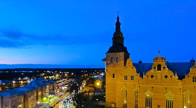 Kristianstad in the evening.