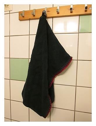 tummansininen pyyhe pyyhepäiväksi 2013