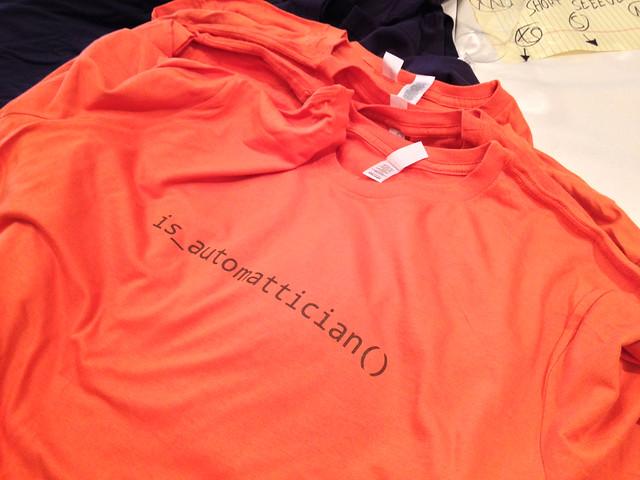 Automattician T-shirt at Automattic Grand Meetup 2013