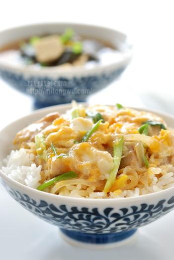 小小米桶: 親子丼。美味的懶人飯