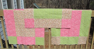 Giant Nine Patch Baby Quilts