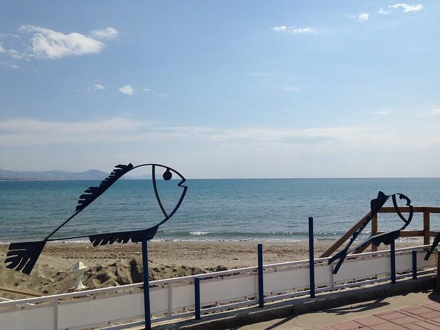 Akdeniz fish sculpture