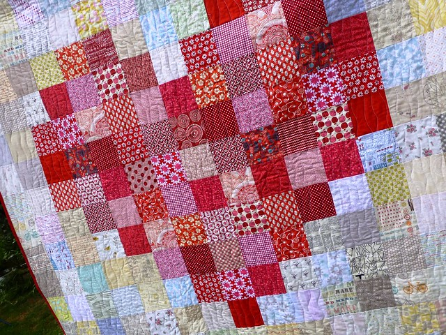 Pixelated Heart Quilt 003